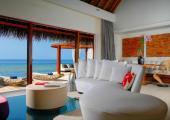 nice view villa in water Maldives resort
