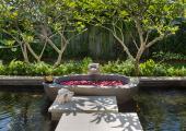 exotic vacation bali villa outdoor bathtub
