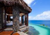infinity pool luxury villa stay laucala