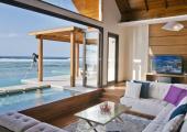 ocean waterfront villa private pool luxury vacation Maldives