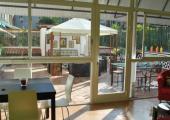 beautiful barcelona hostel tea and coffee terrace