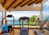 Exotic sea view fitness center