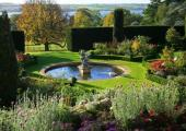 aristocratic garden Victorian style hotel
