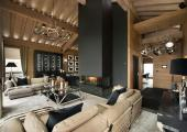 Relax at Chalet Lounge in Comfortable and Warm Setting with Fireplace
