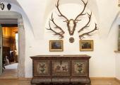 hotel lobby antlers decoration visit austria