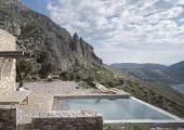 tainaron blue retreat greek ancient tower hotel infinity pool clifftops