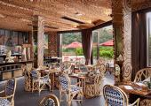 great interior restaurant tropical wood exotic design