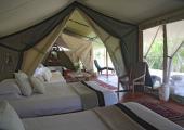 Kenya safari tent in Masai reserve