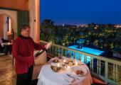 Enjoy the View of Gardens and Marrakesh from Agdal Suite Terrace