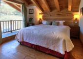 warm stylish luxury bedroom frrench alps chalet
