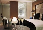 romantic light interior hotel room