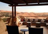 luxury villa view over desert