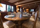 luxury dining area swiss chalet verbier