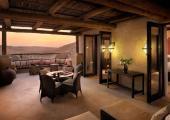 beautiful terrace luxury villa desert resort