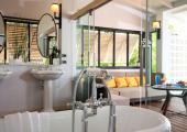 retro design bathroom in Phuket villa