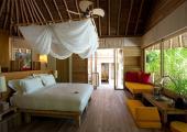 bedroom for two six senses hotel maldives