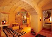 luxury hotel suite stone walls cappadocia