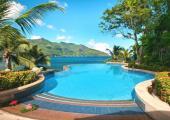 turquoise water seychelles paradise