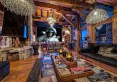 living room media area luxury rental ski vacation alps