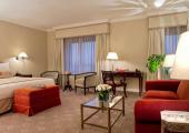 nice and warm interior design hotel suite