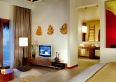 interior tropical furnished luxury villas