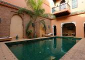 patio pool riad Marrakech stay luxury hotels