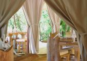 Restaurant tent camp Naibor