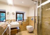 modern bathroom shower and toilet
