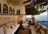 Outdoor sofa luxury amenities for a spectacular sea view villa