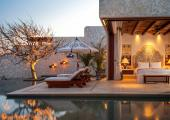 luxury exotic villa with private infinity pool
