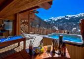 luxury chalet terrace jaccuzi