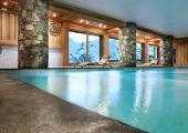 indoor pool french alps ski resort hotel
