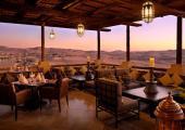 Sun set view hotel restaurant terrace