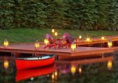 river lake romantic diiner by watter