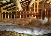 villa vals stable rustic straw bales bed