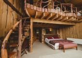 rustic style room hotel nothofagus chile