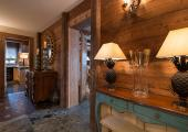 rustic style chalet stylish wood and lampions
