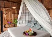 romantic canopy bedroom keemala hotel villa