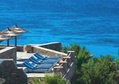 gorgeous turquoise water sea view mykonos