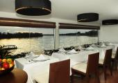 Amazon River cruise ship's restaurant