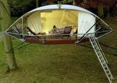 new glamping project tent to rent in tree