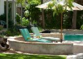 lounges outdoor pool luxury hotel stellenbosch