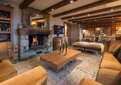 visit swiss verbier ski vacation villa living area