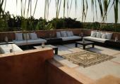 spacious balcony with view rental senegal