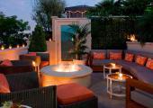 luxury boutique roof top garden restaurant beverly hills