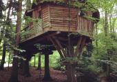 rustic lodge tree house to rent