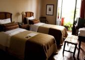 twin beds cozy hotel holiday in argentina