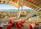 rooftop hotel panoramic luxury bistro