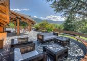 luxury villa for rent terrace with view over pyrenees