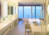 golden style bathroom luxury w hotel barcelona